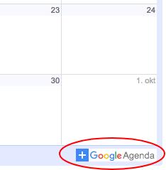 Heb je zelf een Google Agenda? - Voeg deze dan toe aan de jouwe en klik op deze knop!