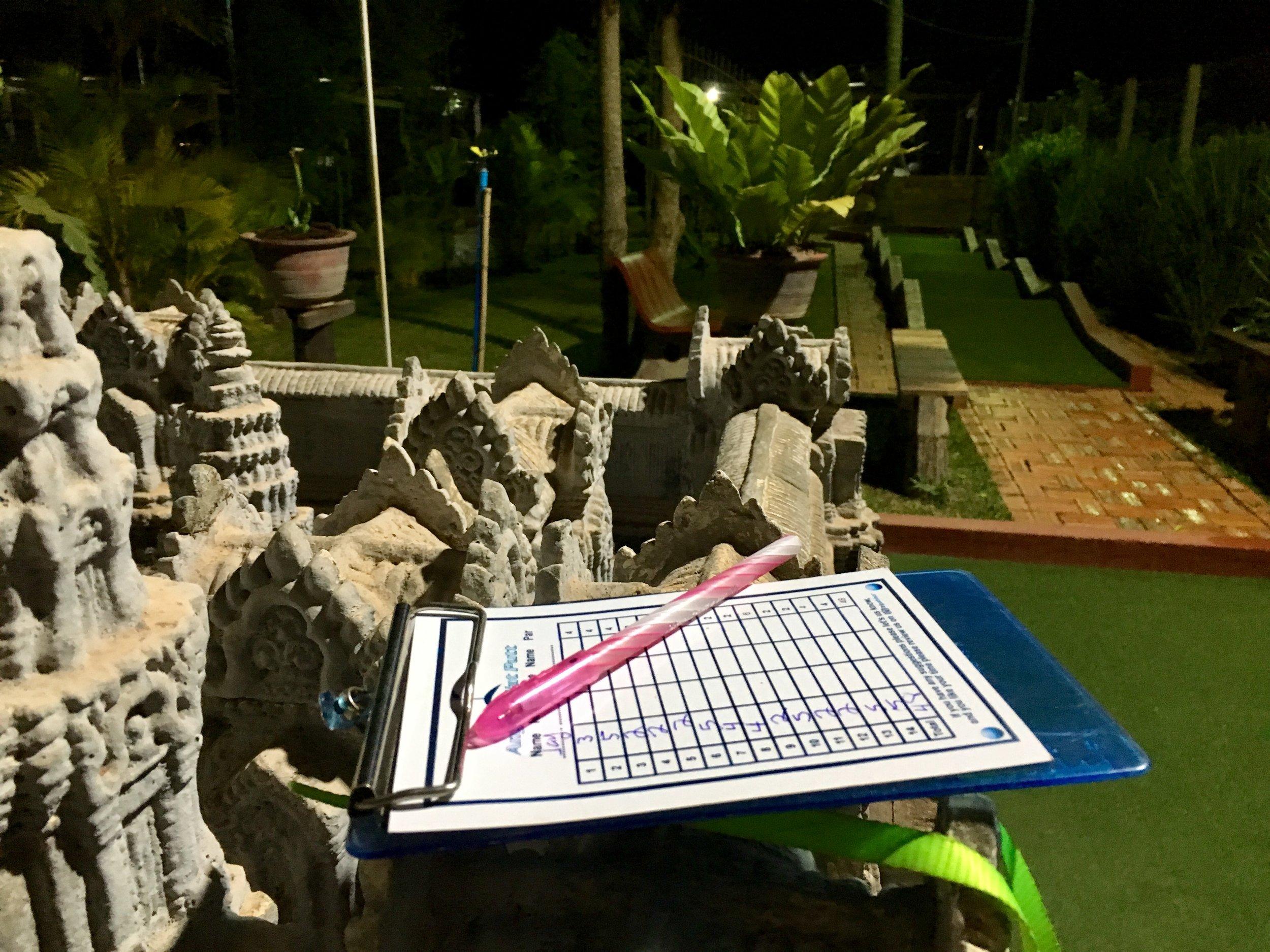Mini Golf at Angkor Wat Putt