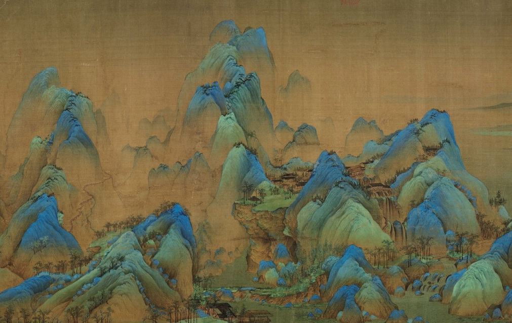 A Thousand Li of Rivers and Mountains (千里江山 qiānlǐ jiāngshān ), painted in 1113 by teenaged prodigy Wang Ximeng (1096-1119) has only been displayed three times since the Communist Party took power in 1949.