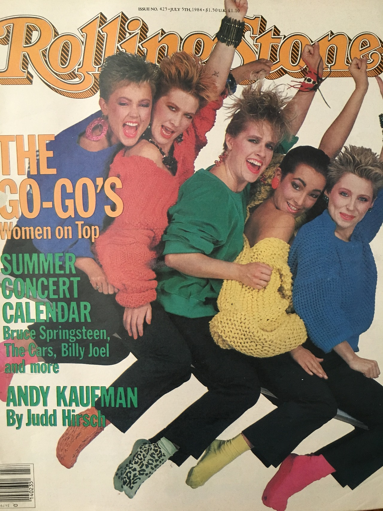 The Go-Go's Women on Top.  Rolling Stone. July 5, 1984.