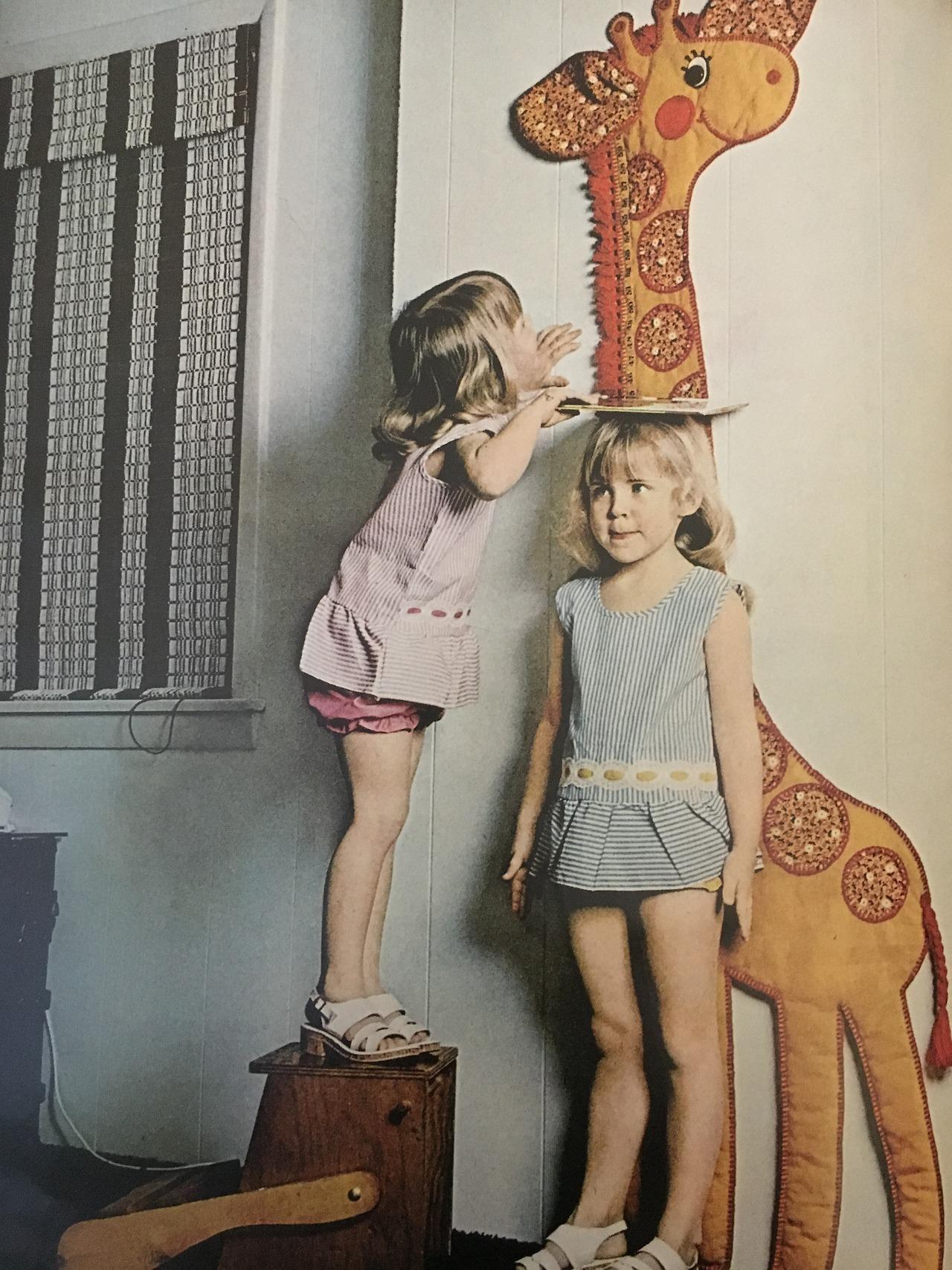 Giraffe growth chart.  Better Homes and Gardens. July 1974.