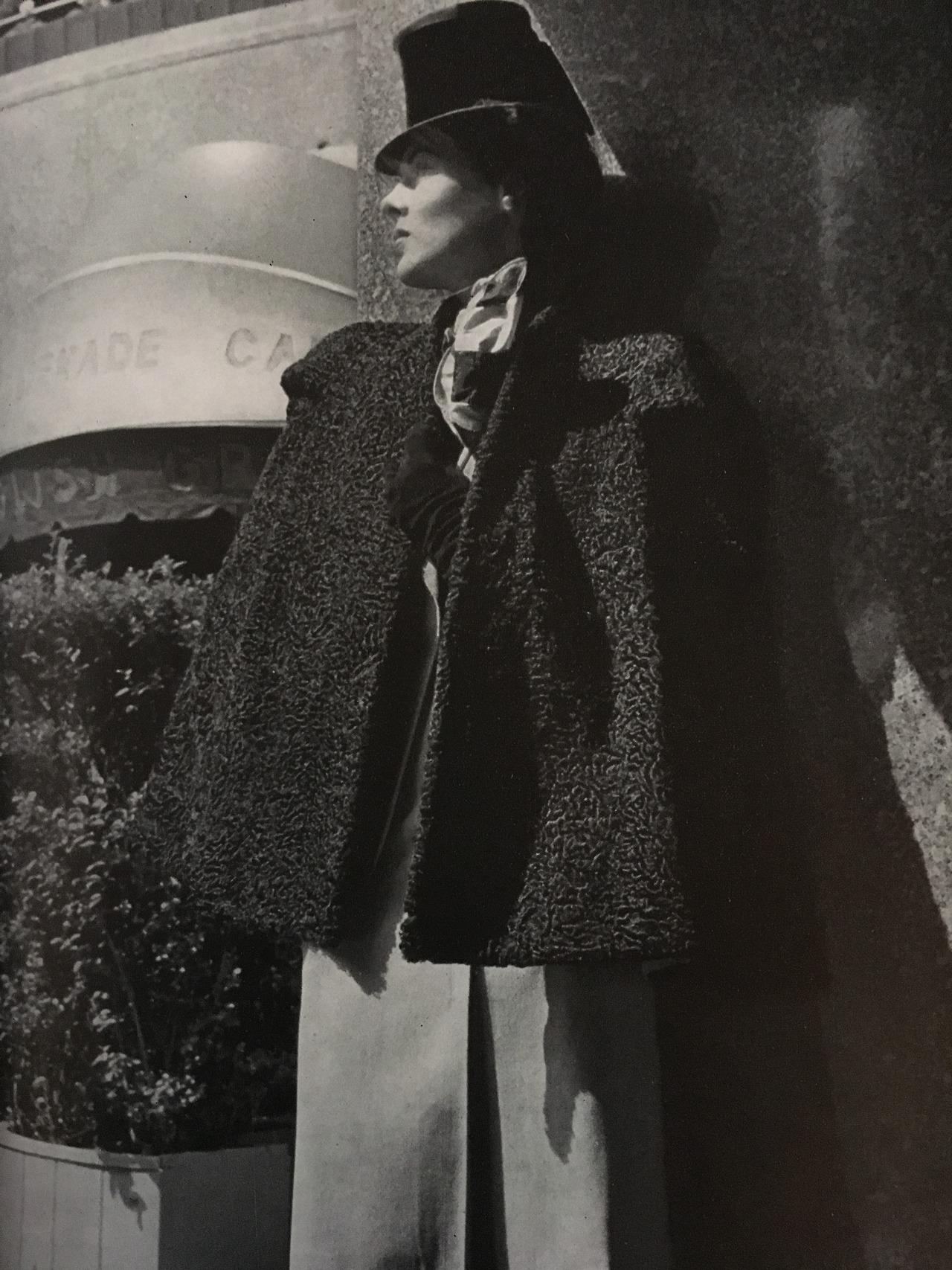 Trim cape…in trimmed hat.  Vogue. July 15, 1942