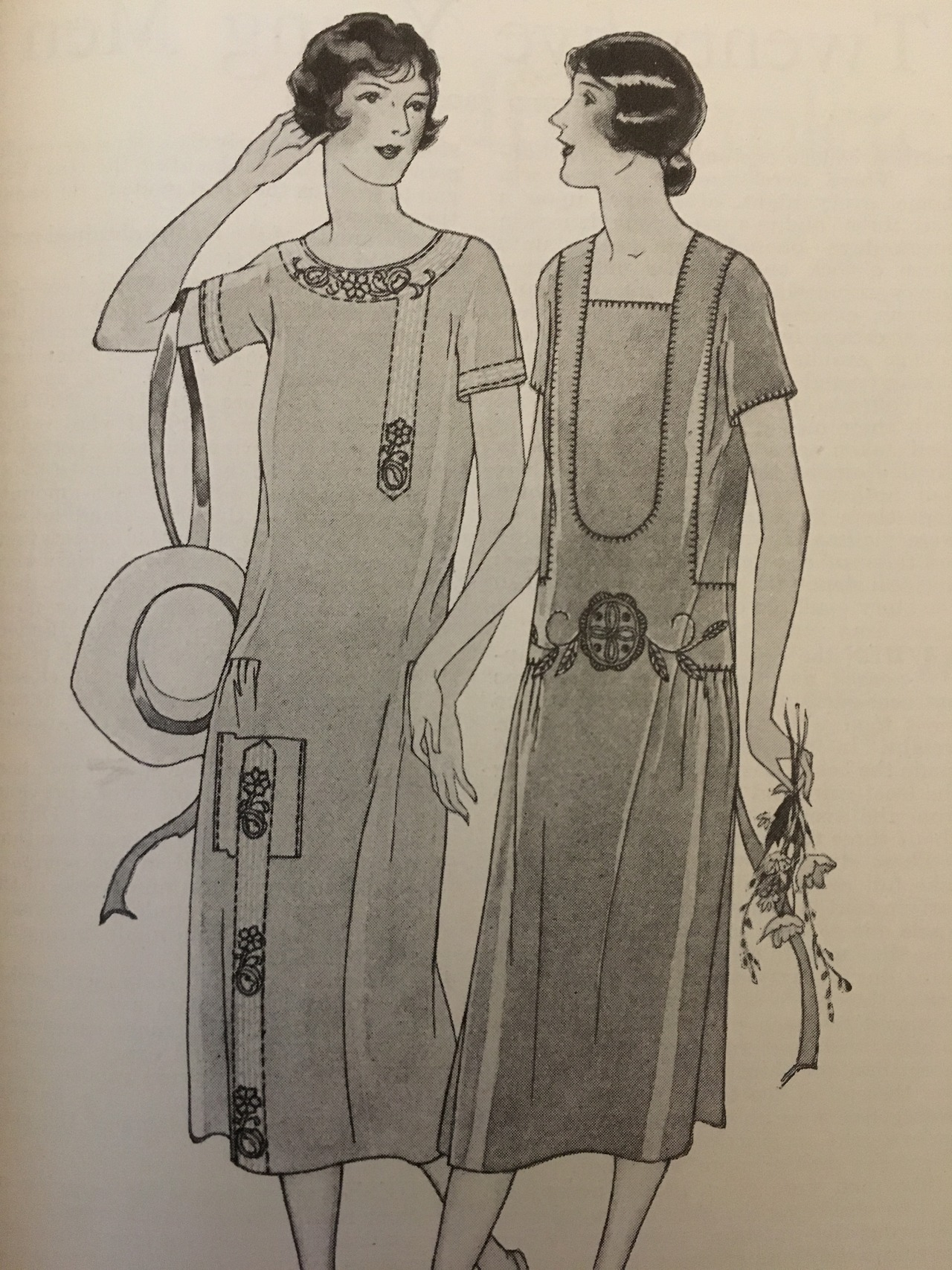 For your summer vacation wardrobe.  Woman's Home Companion. July 1925.  I do know that some of you are looking for more 1920s content. Here's an image from a bound edition of Woman's Home Companion that I recently added to my collection.