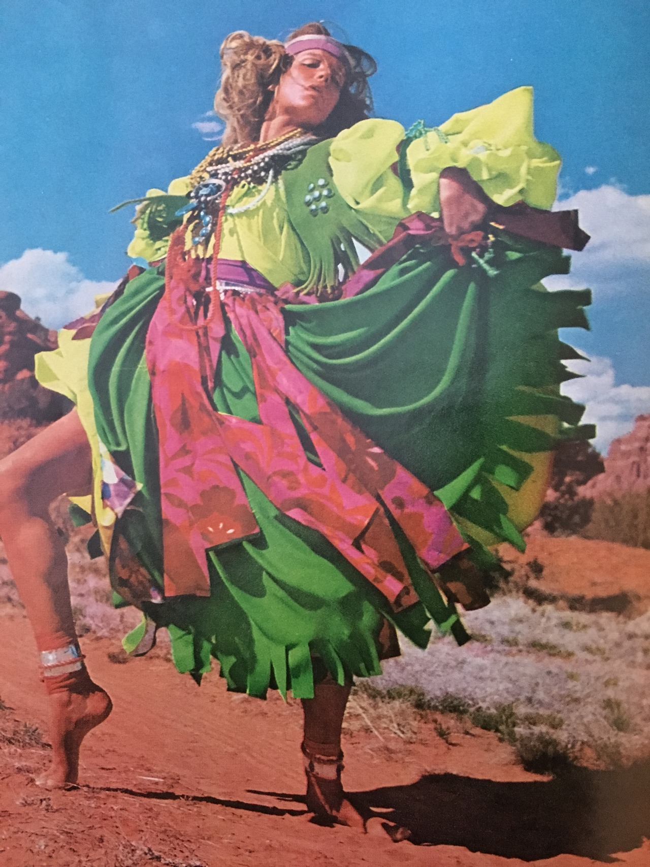The Magnificent Mirage.     Vogue. July 1968.