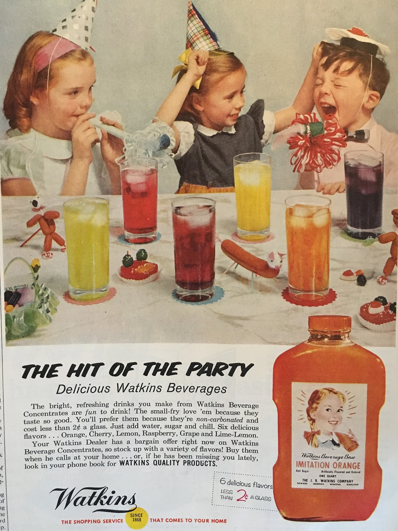 The hit of the party. Watkins.     Ladies' Home Journal. June 1957.