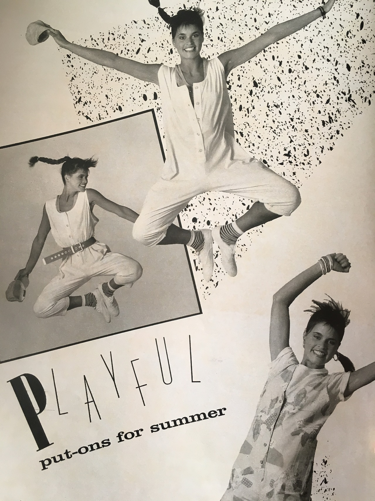 Playful put-one for summer.     Seventeen. June 1985
