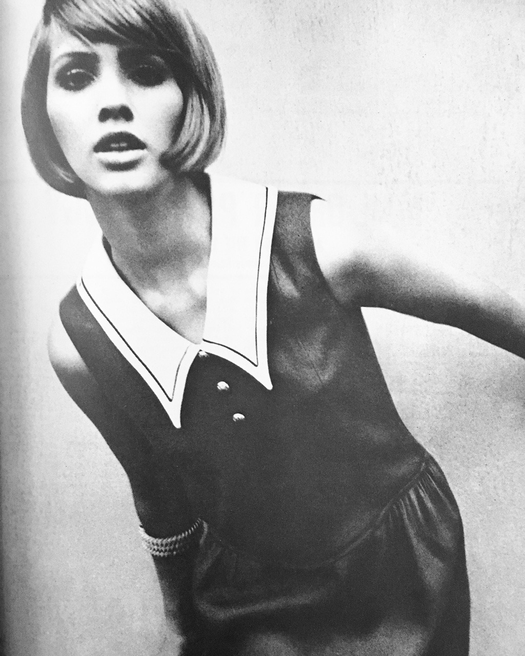 Mademoiselle. June 1964.   Today's prompt is My Style and I've always gravitated toward the '60s mod look.
