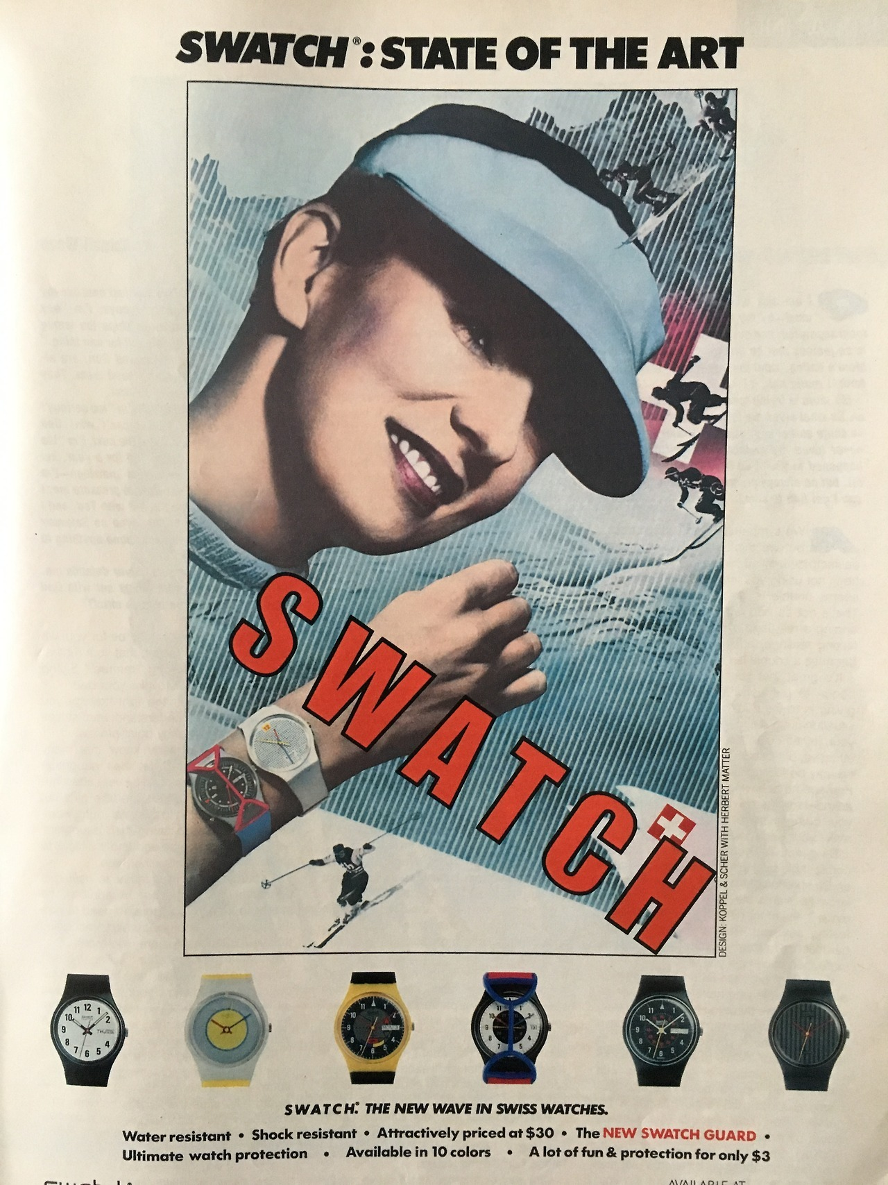 Swatch.     Seventeen Magazine. June 1985.     Today's prompt was time, so what could be better than an early ad for Swatch.