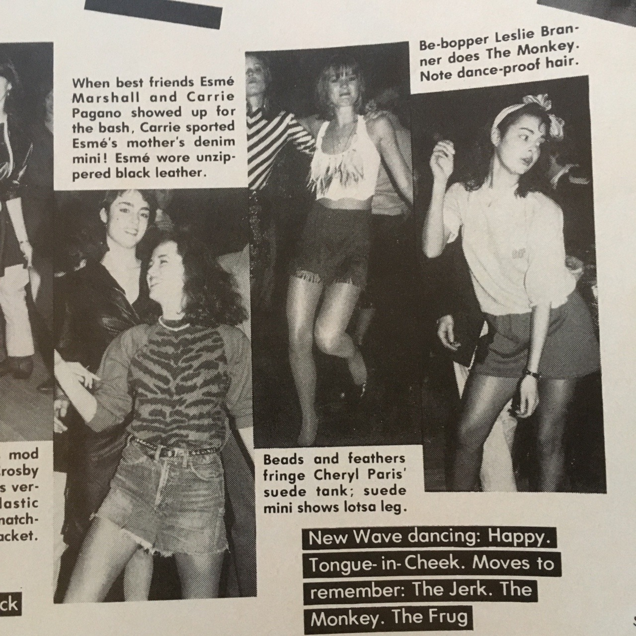 Thanks for the #danceparty prompt,  @detroitlib !   Found this awesome gem in the June 1980 issue of Mademoiselle. Here's an excerpt of the article, just in case you are curious:   Dancing's never been hotter - and at Elite Model Agency's recent bash, the models danced in minis! What they danced to: disco, sure, plus new music that sounds like the sixties - but with an eighties bite.   If you have a prompt & would like me to dig through the archives & find a little #vintagespiration, comment or send a note!