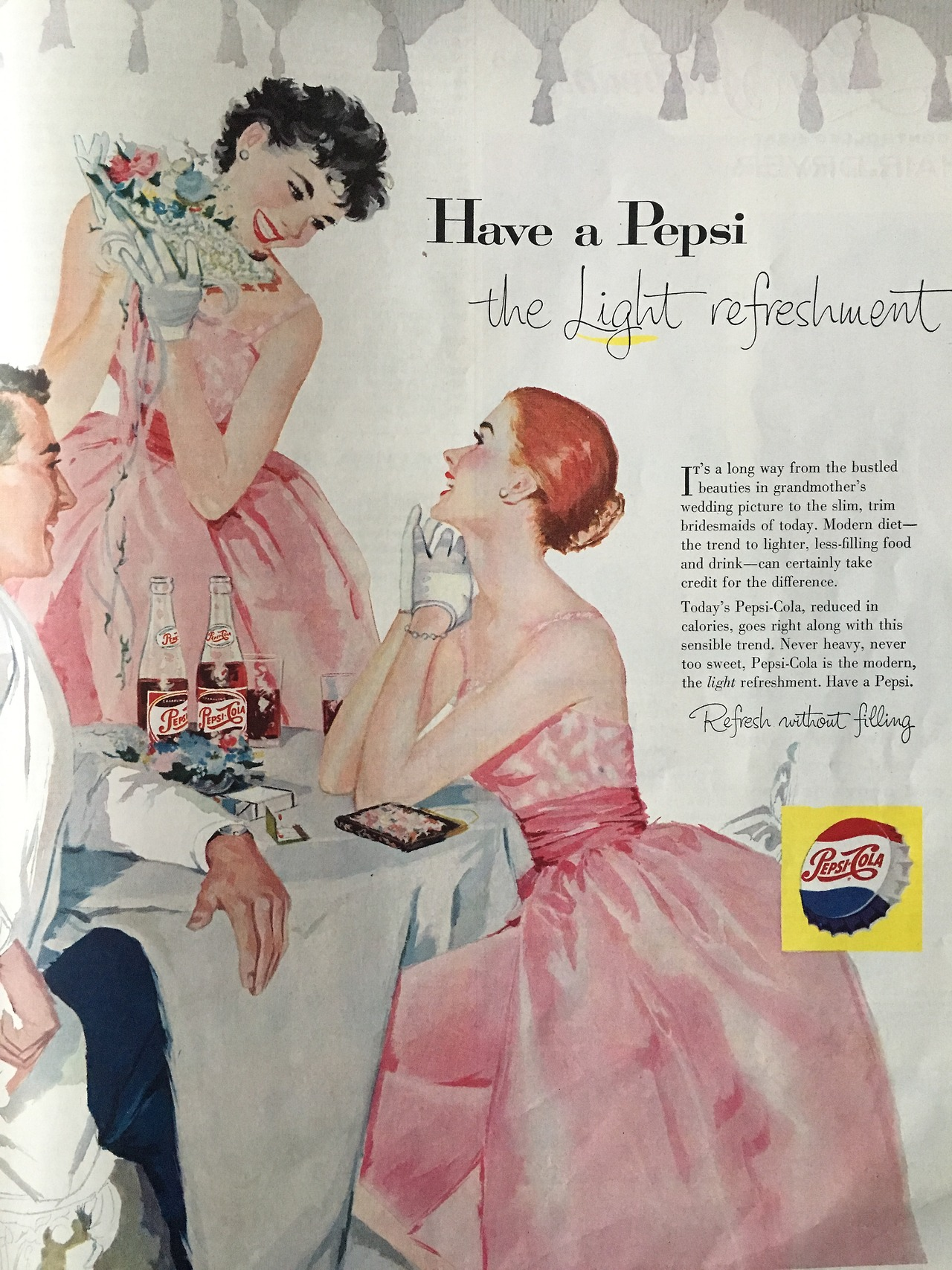Have a Pepsi - The Light Refreshment.     Ladies' Home Journal. June 1957