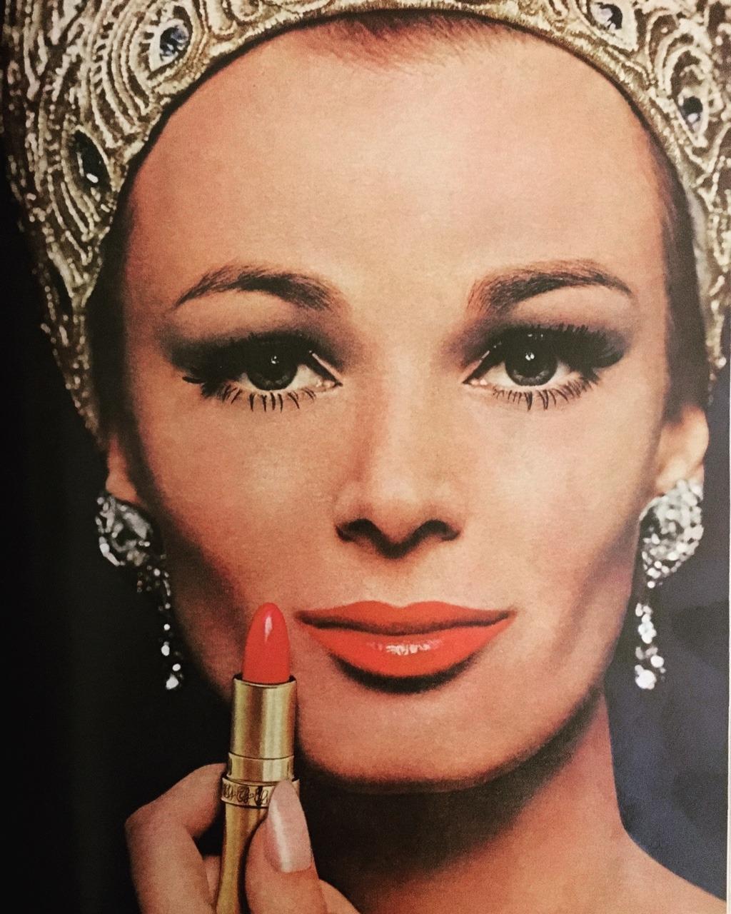 Cover Girl lipstick.   Mademoiselle. June 1964.