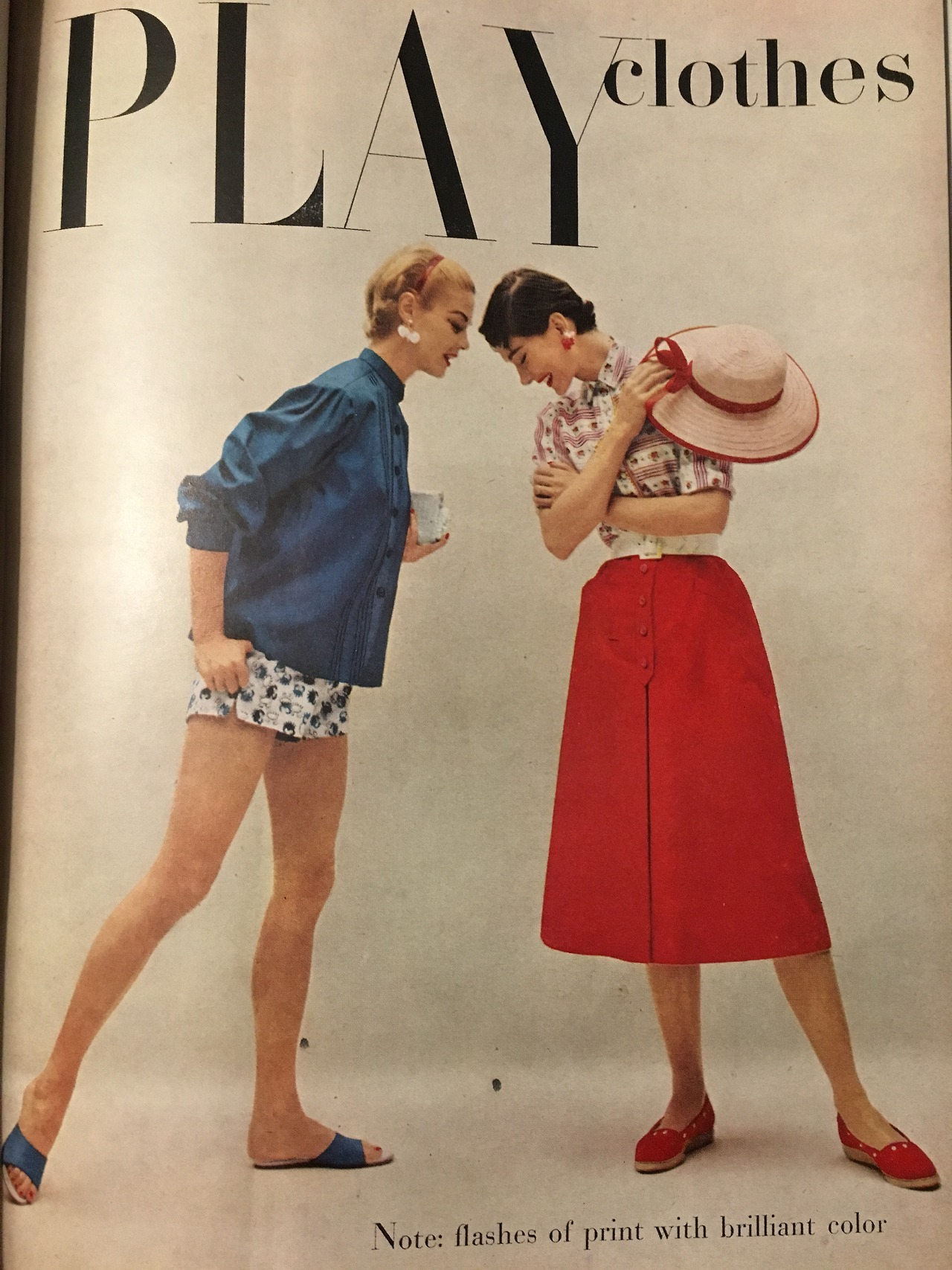 Play clothes.   Charm. June 1954.