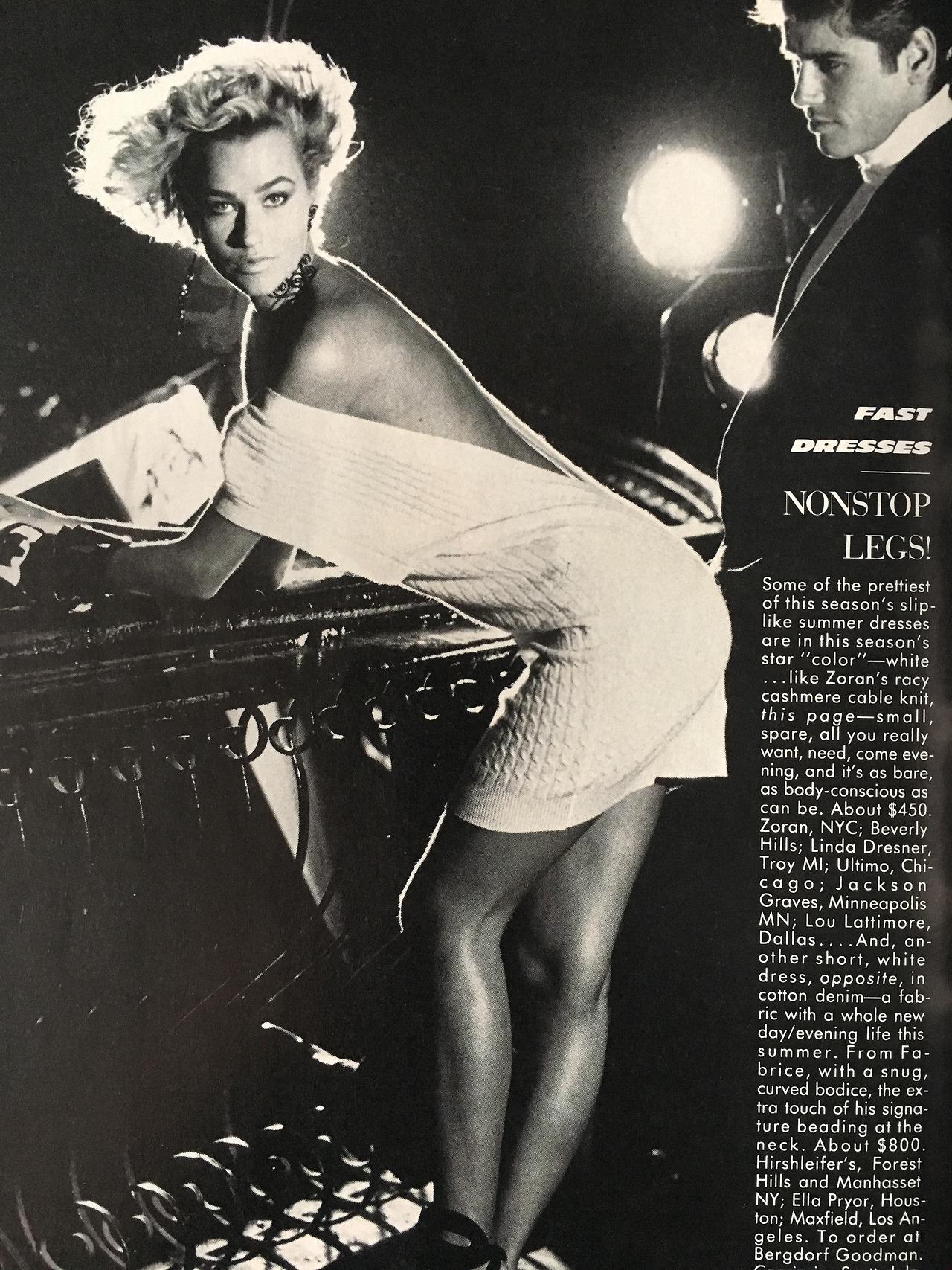 Vogue.   May 1986.     Backing up.