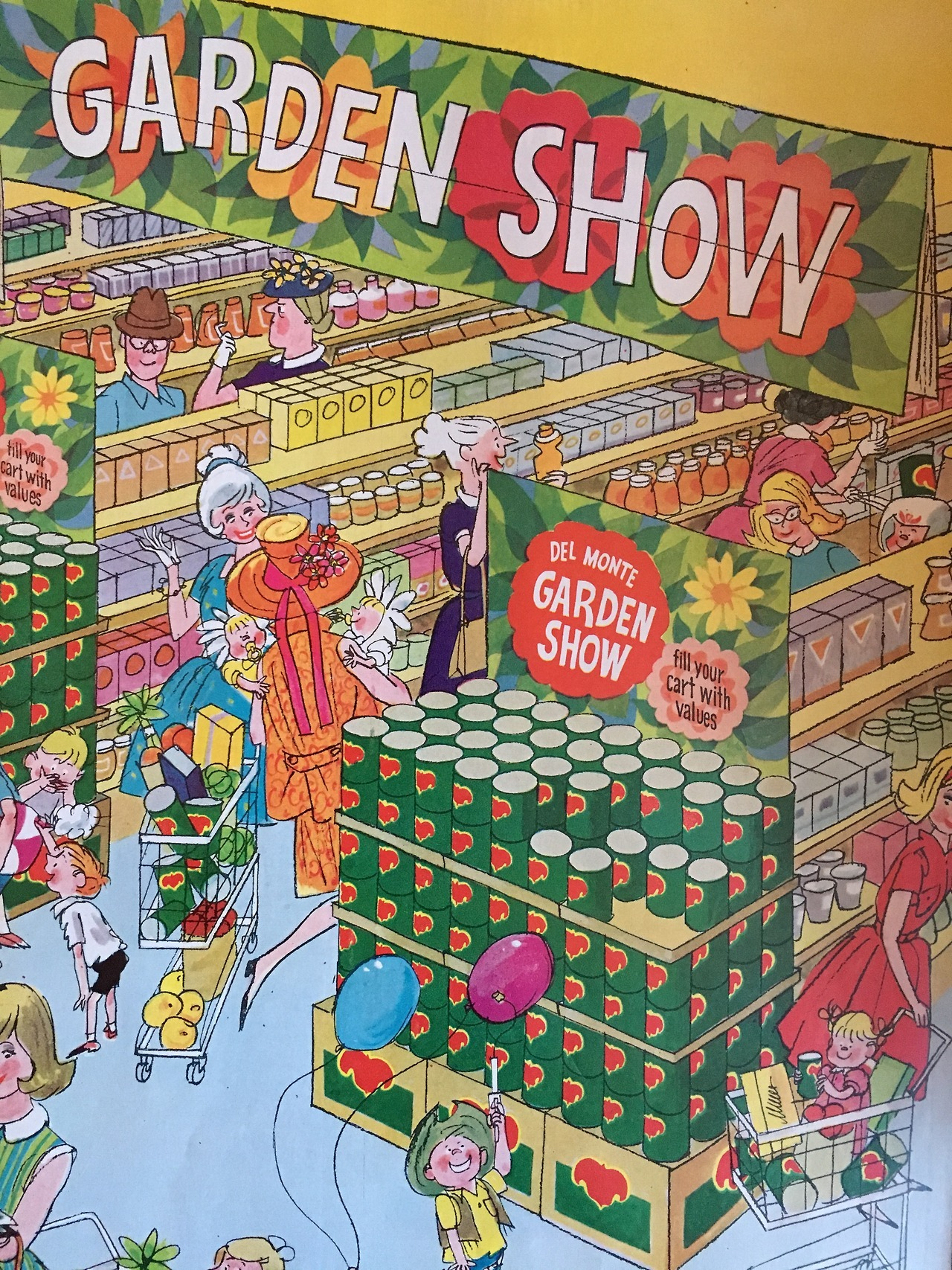 Del Monte Garden Show.  Ladies' Home Journal. May 1963