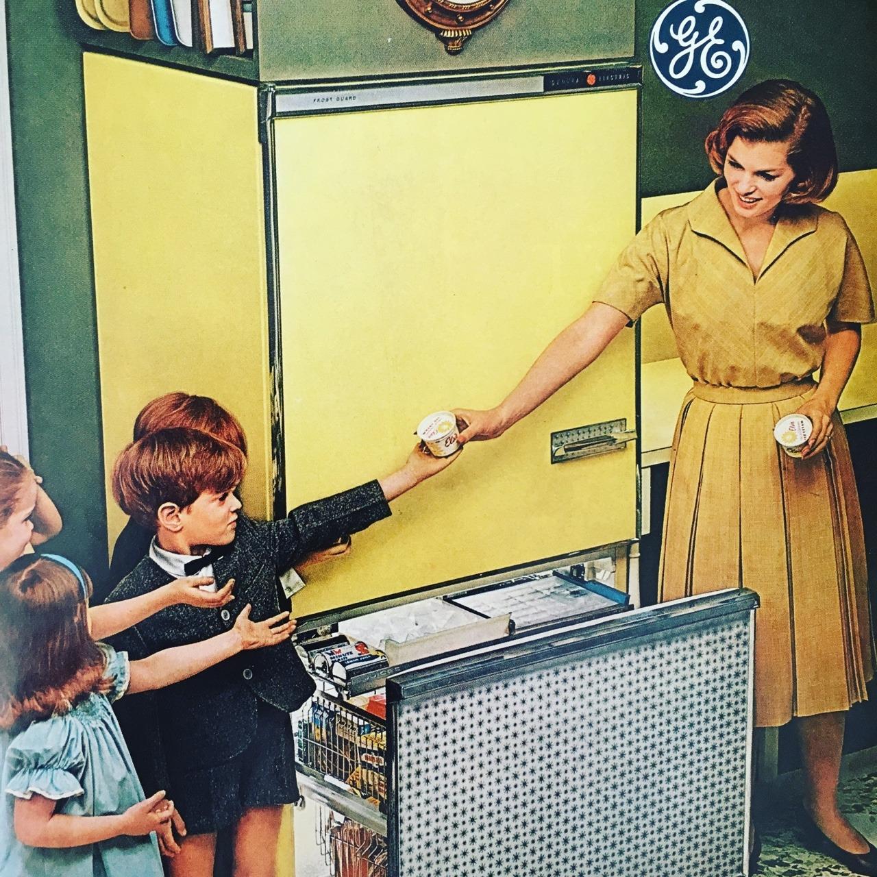 General Electric refrigerators.   Ladies' Home Journal. May 1963.