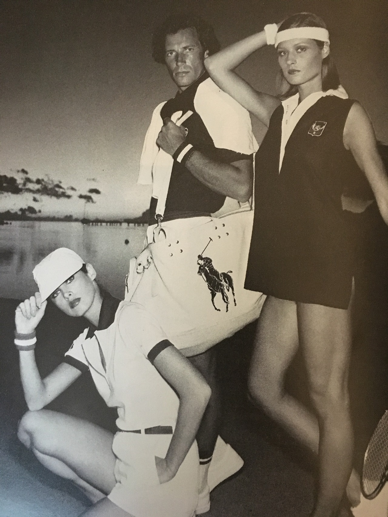 I Magnin ad featuring Polo Ralph Lauren.   Vogue. May 1976.     So very preppy.