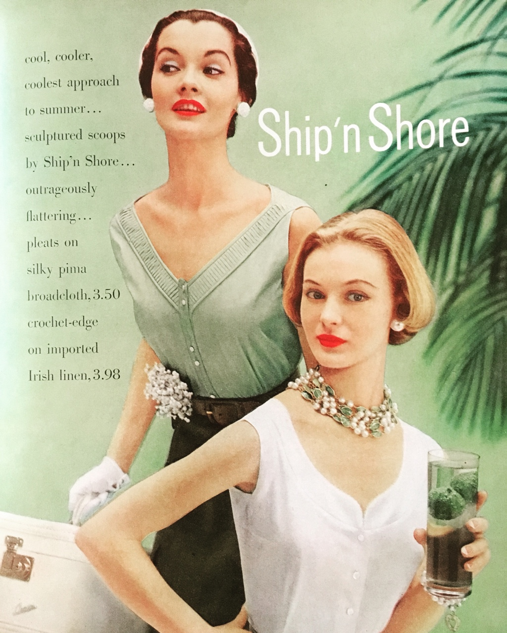 Ship 'n Shore. Mademoiselle. May 1950. Delightfully delicate in mint.