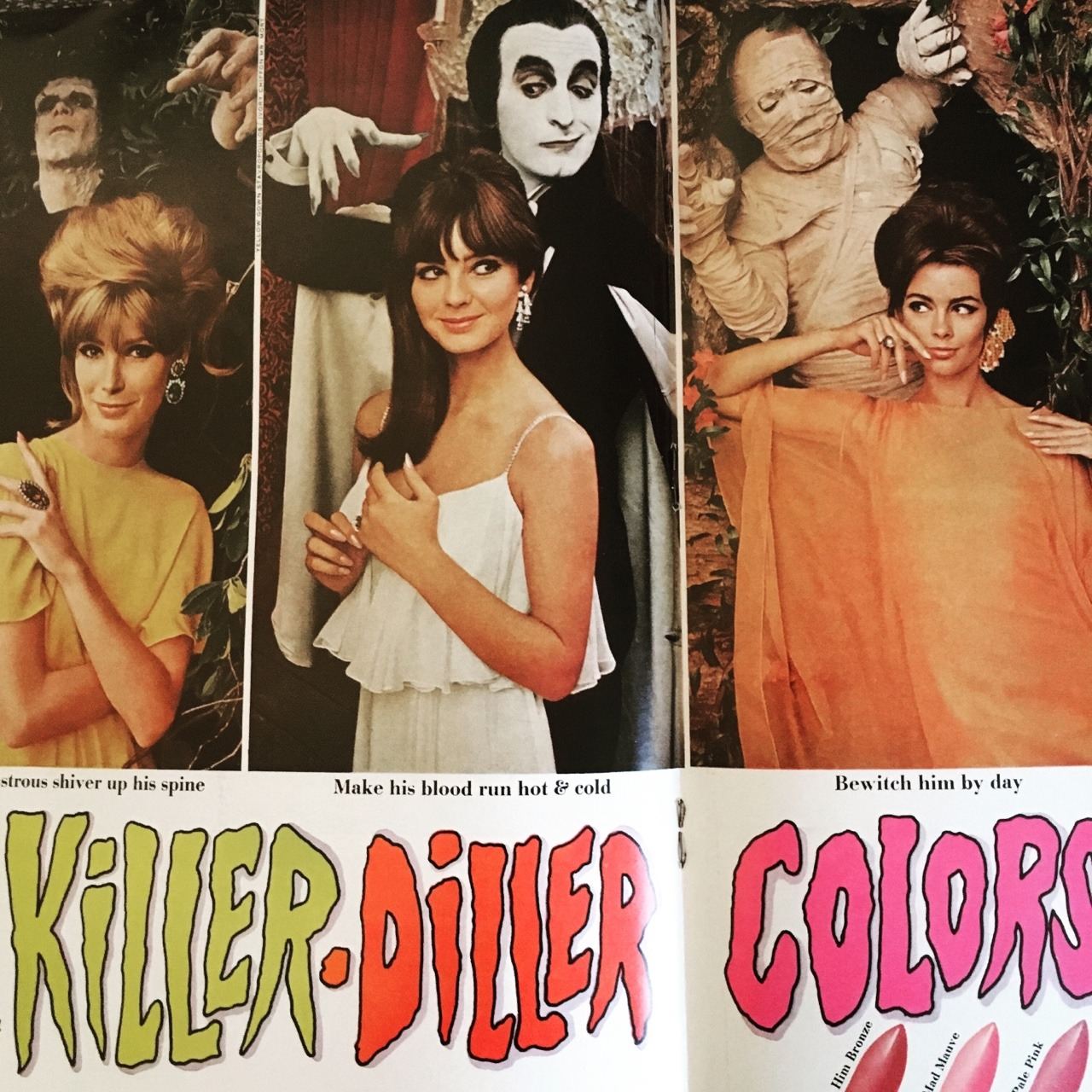 Killer-Diller Colors by Cutex. Co-Ed Magazine. April 1966.