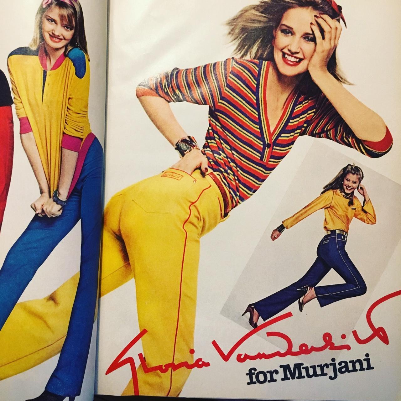 Gloria Vanderbilt ad. Mademoiselle. February 1980.