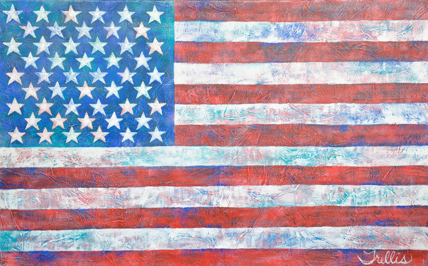 """""""Old Glory""""    (48""""x30"""") Oil on canvas."""