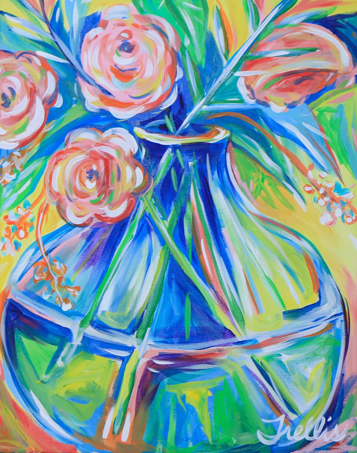 """Freshly picked""    (16""x20"") Acrylic on canvas."