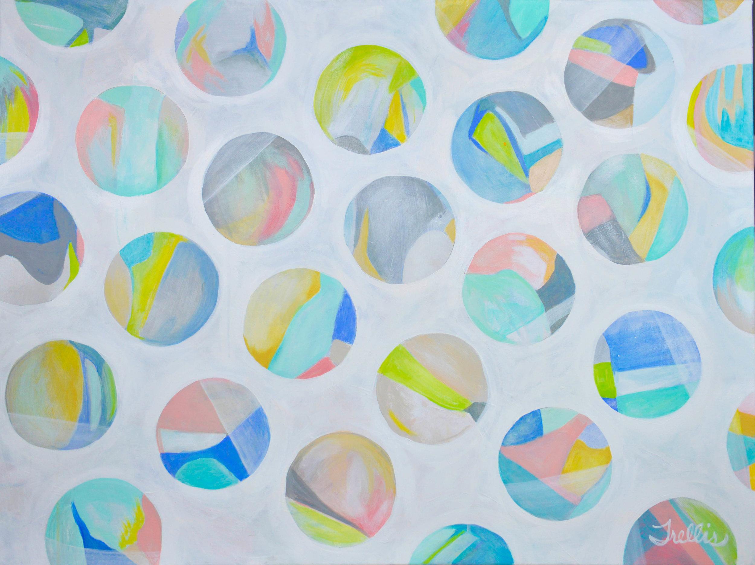 """""""Bounce""""    (48""""x36"""") Acrylic on canvas."""