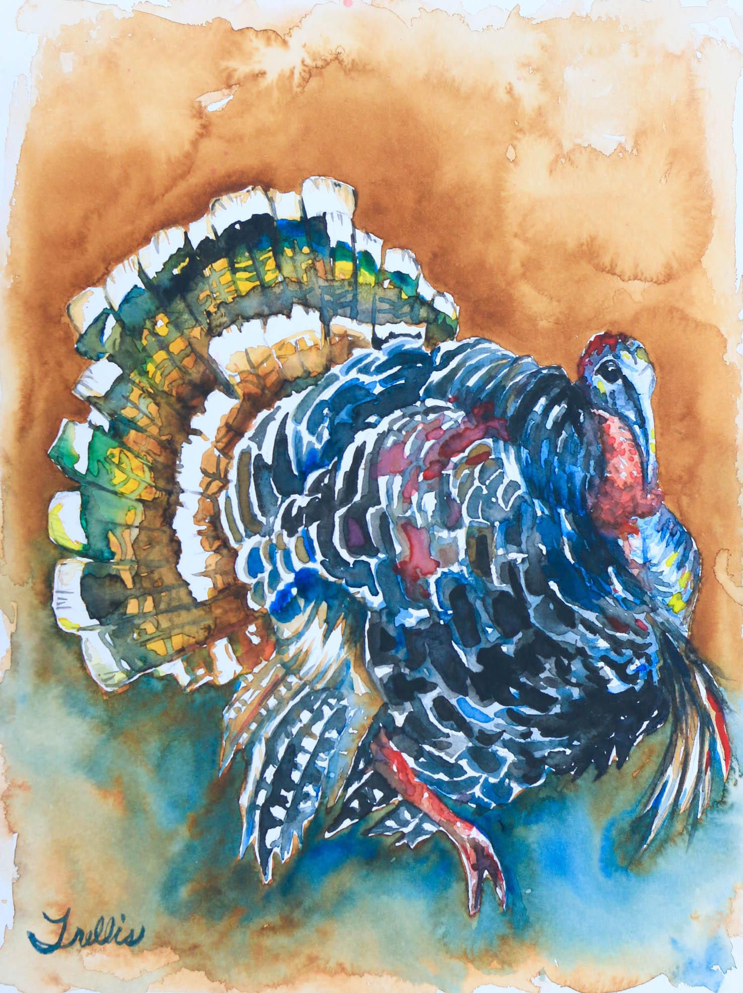 """Turkey""   (9""x12"") Watercolor."
