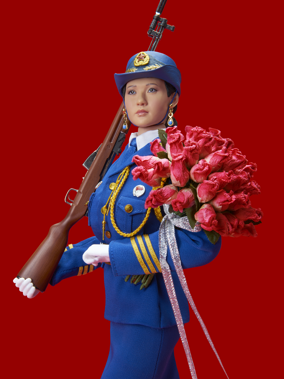 RED CHINESE DOLL (WITH BOUQUET)