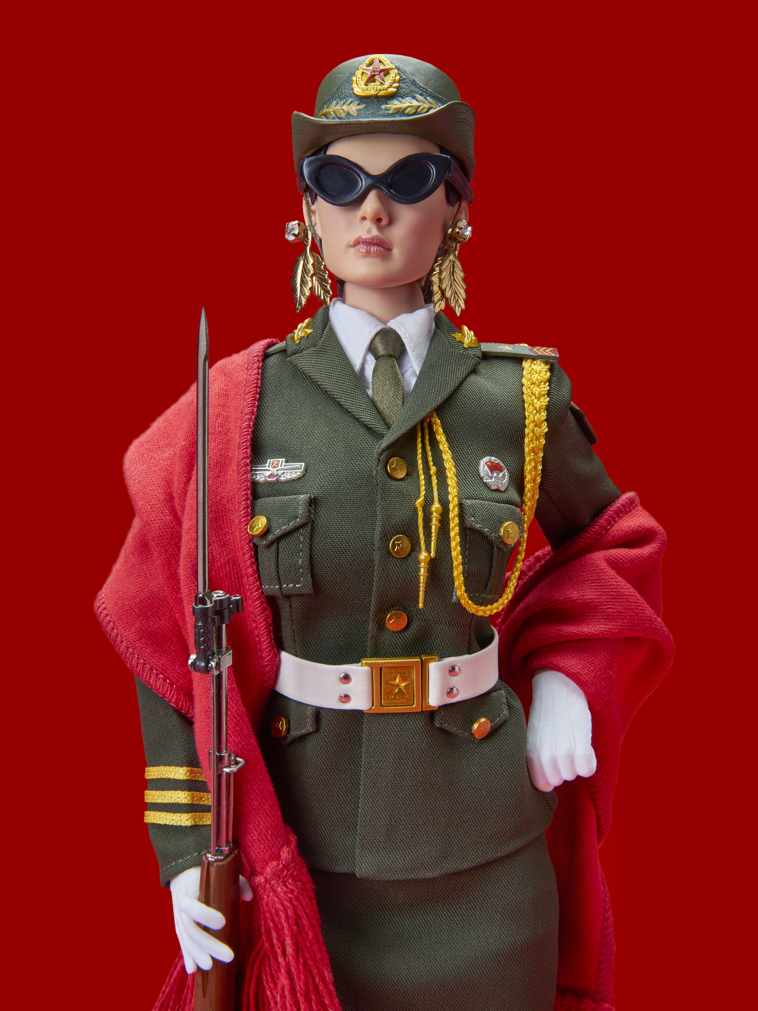 RED CHINESE DOLL (IN DONNA KARAN)