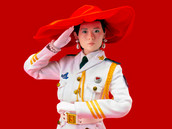 RED CHINESE DOLL (IN BIG RED HAT)