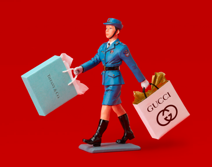 THE PEOPLE'S LIBERATION ARMY GOES SHOPPING (AT TIFFANY'S AND GUCCI)