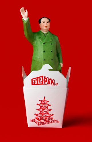 RED CHINESE TAKE OUT MAO