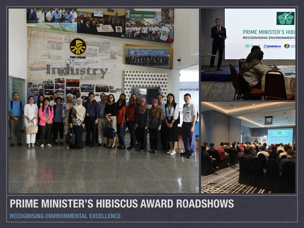 NEWS - The Nationwide roadshow ends for Prime Minister's Hibiscus Award (PMHA) 2019/2020 – the premier environmental award for business and industries in Malaysia.