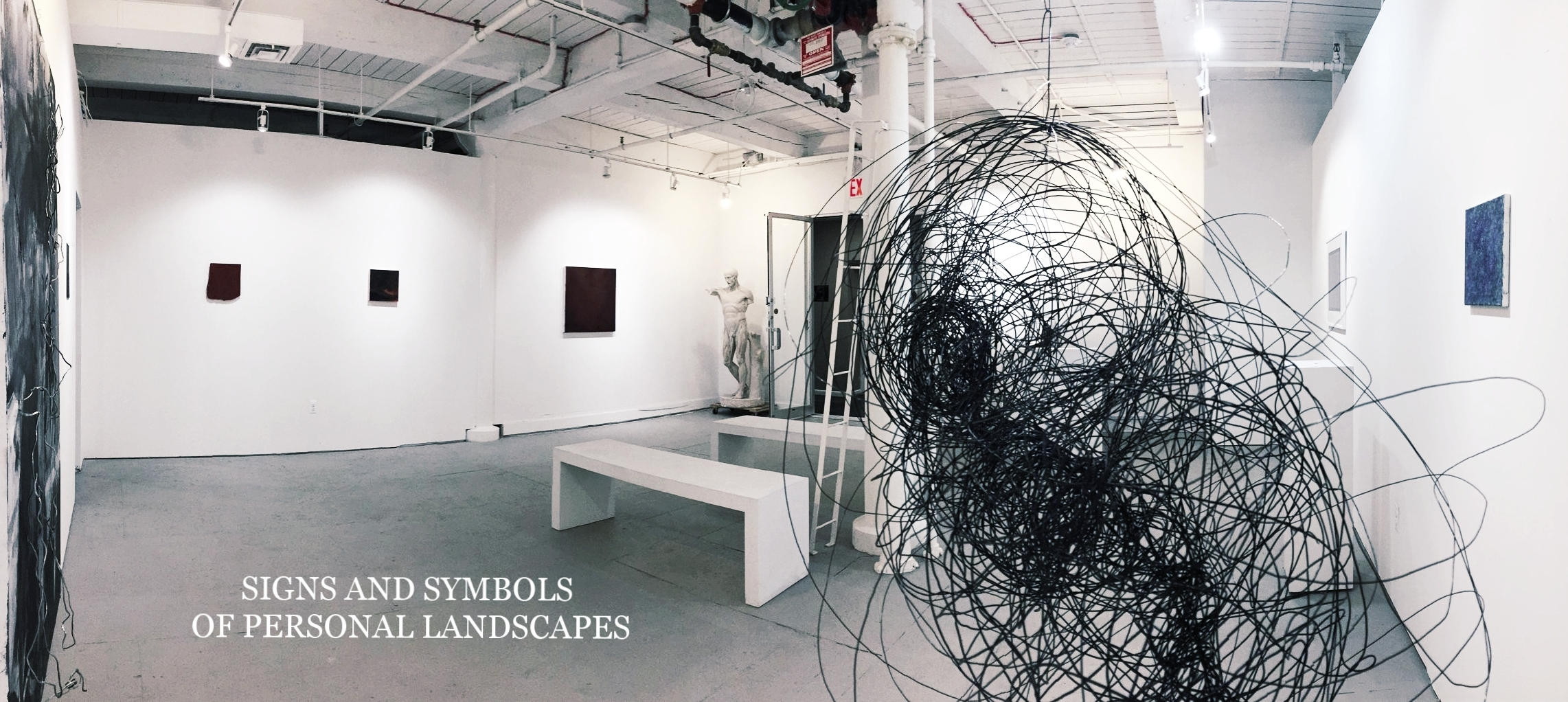 The New York School of the Arts Gallery is pleased to present SIGNS AND SYMBOLS OF PERSONAL LANDSCAPES.JPG