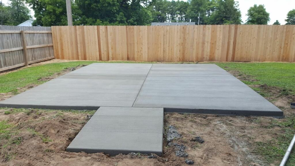 Concrete slab ready for your new shed!
