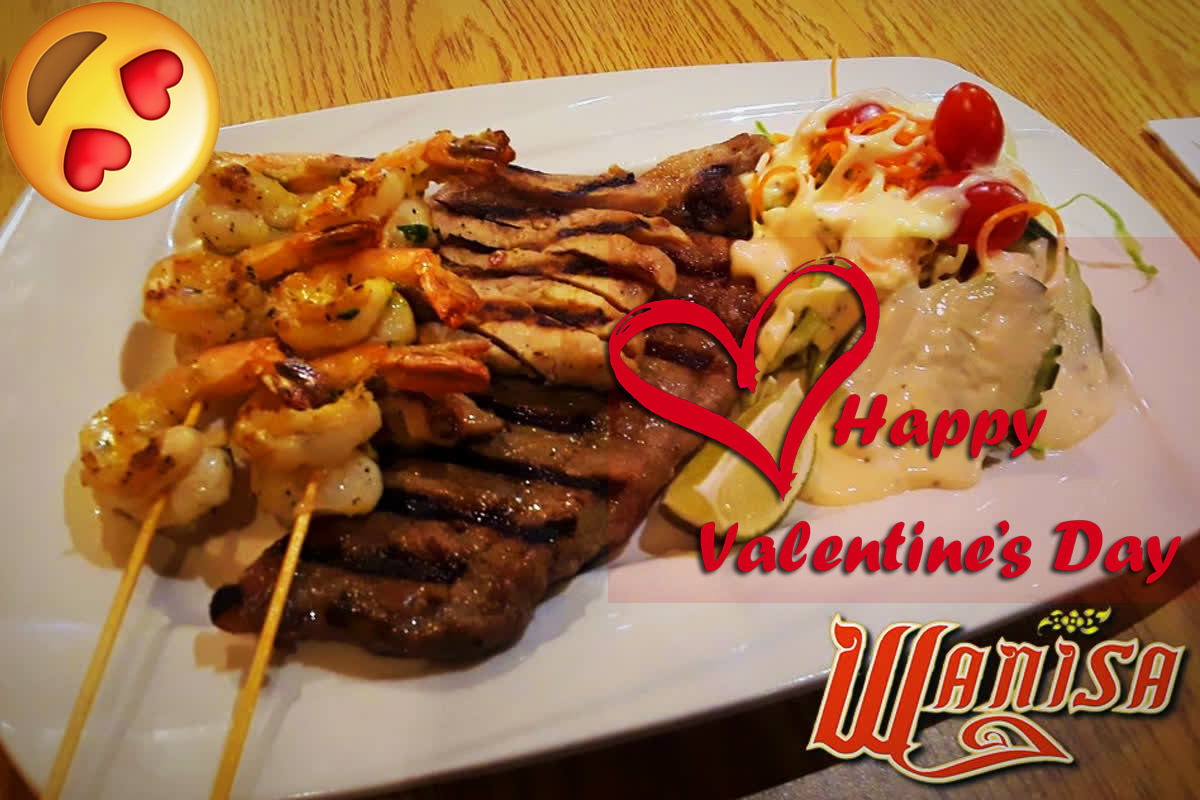 - Join us with a Romantic Valentines SPECIAL!!!!. Our Mixed Grill Special served with a glass of sparkling wine today till 2/14 #valintinesday #wanisahomekitchen #Brooklynlove #thaifoodCoconut Tiger Shrimp, Premium Selected 10oz Skirt Steak & Pork loin with a nice homemade salad. Includes 1 FREE ($13)glass of Louis Pommery California Brut *Limit 15 orders per day
