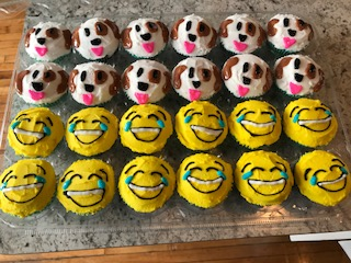 Dog and Emoji Cupcakes.JPG
