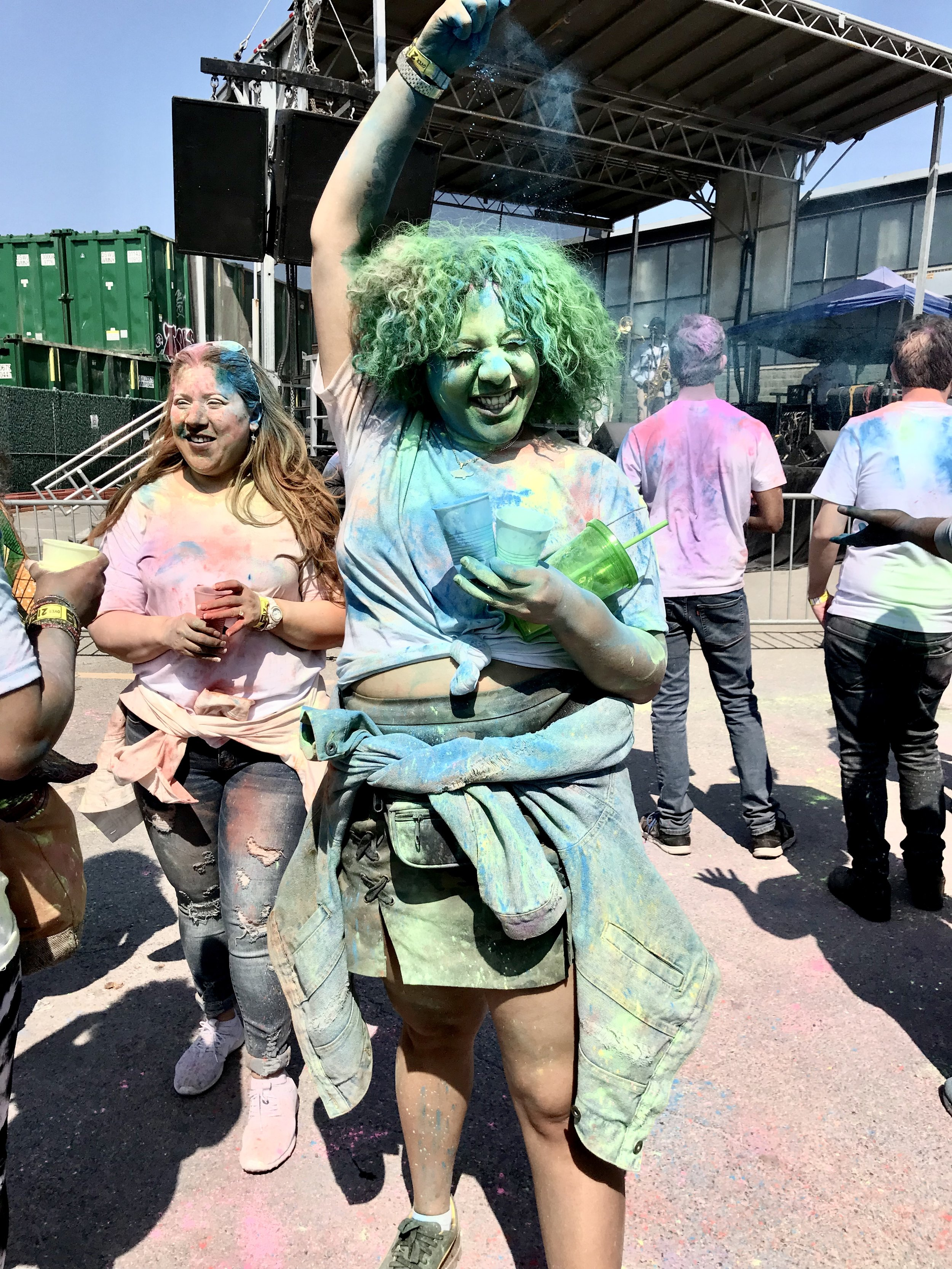 Smiles everywhere;people enjoyed the colorful event by sharing cheerful laughter and smiles.