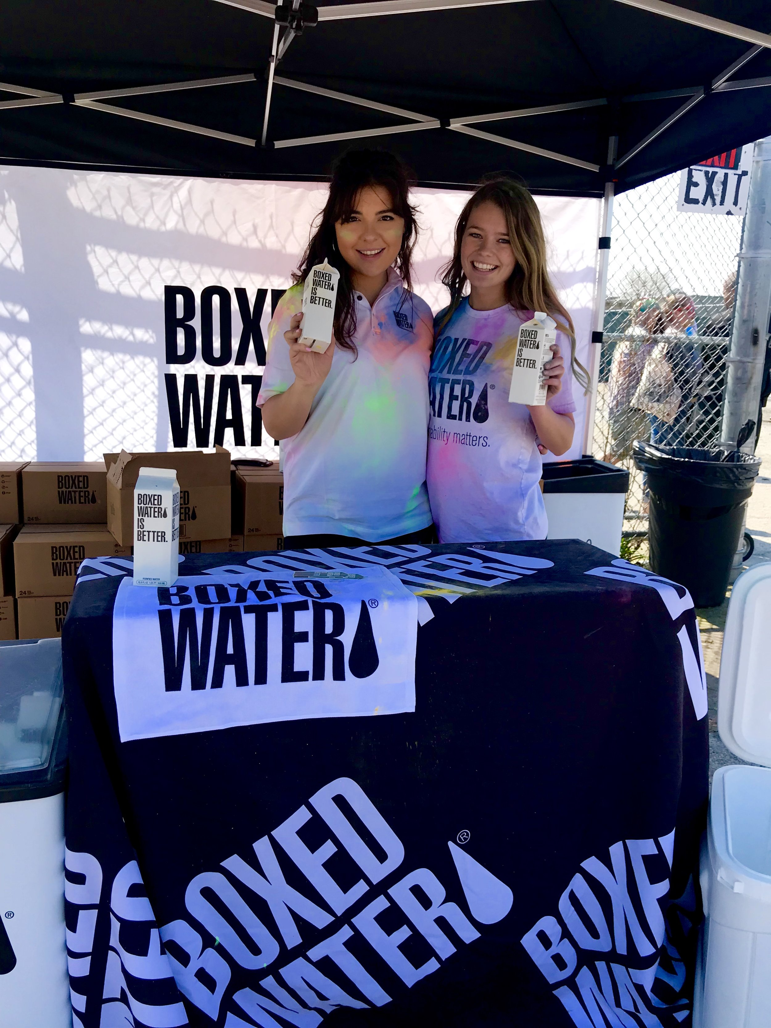 Boxed Water was also spotted at the Holi Festival, because definitely, Boxed Water is Better!