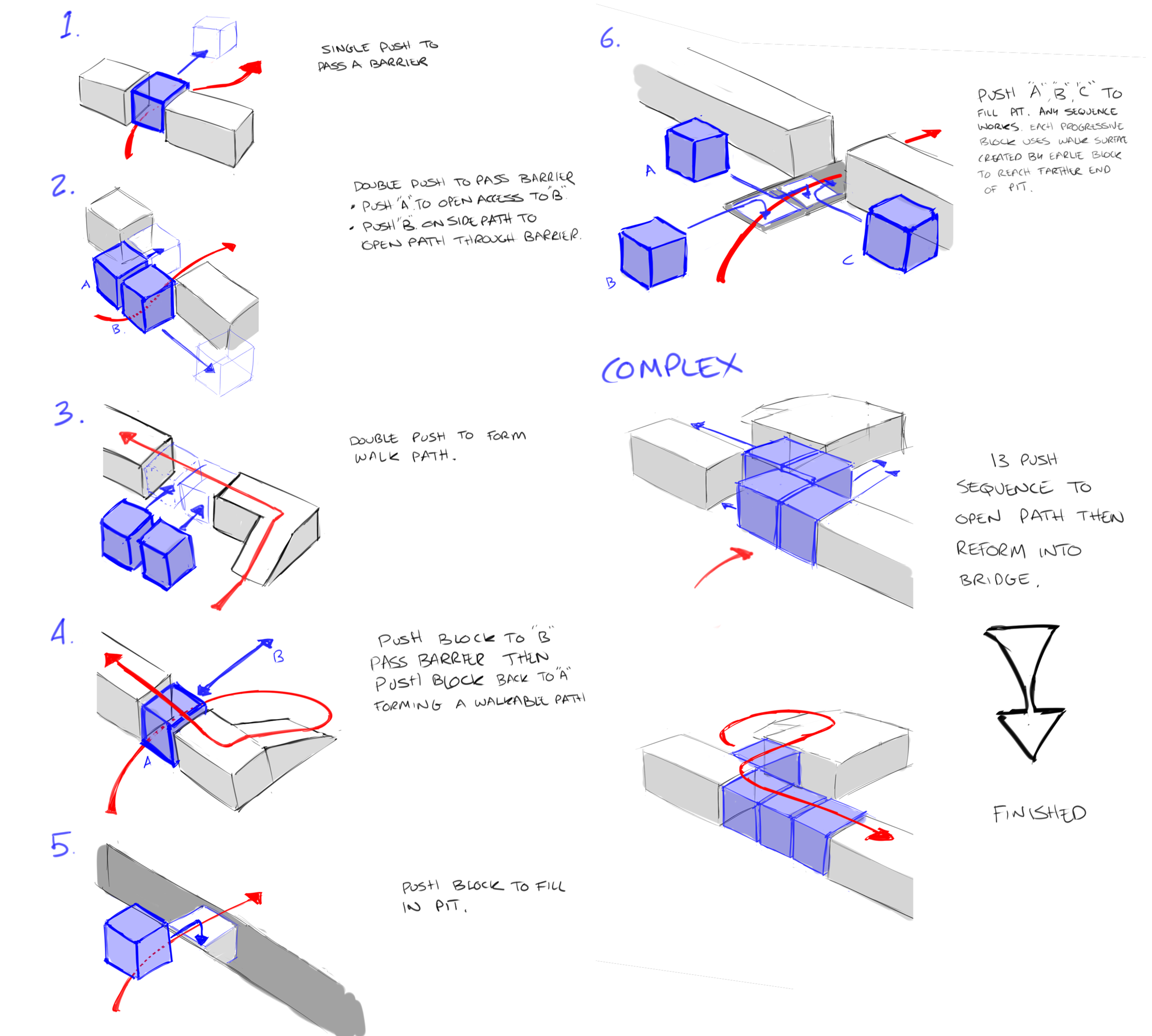 Starting Push block Progression mapped out before inserting into levels.