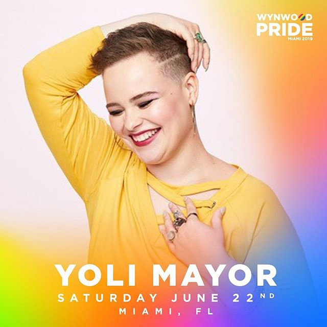 Catch me at 4:30pm on the Main Stage @wynwoodpride #June22 This Saturday!!!! #ShareAllThePride #PrideMonth #WynwoodPride