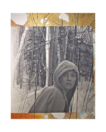 "Flight, 72"" x 48"", oil and inkjet print on canvas, 2007"