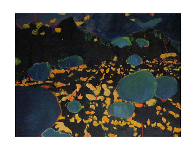 "Descent into LAX, 48"" x 60"", oil on canvas, 2007"