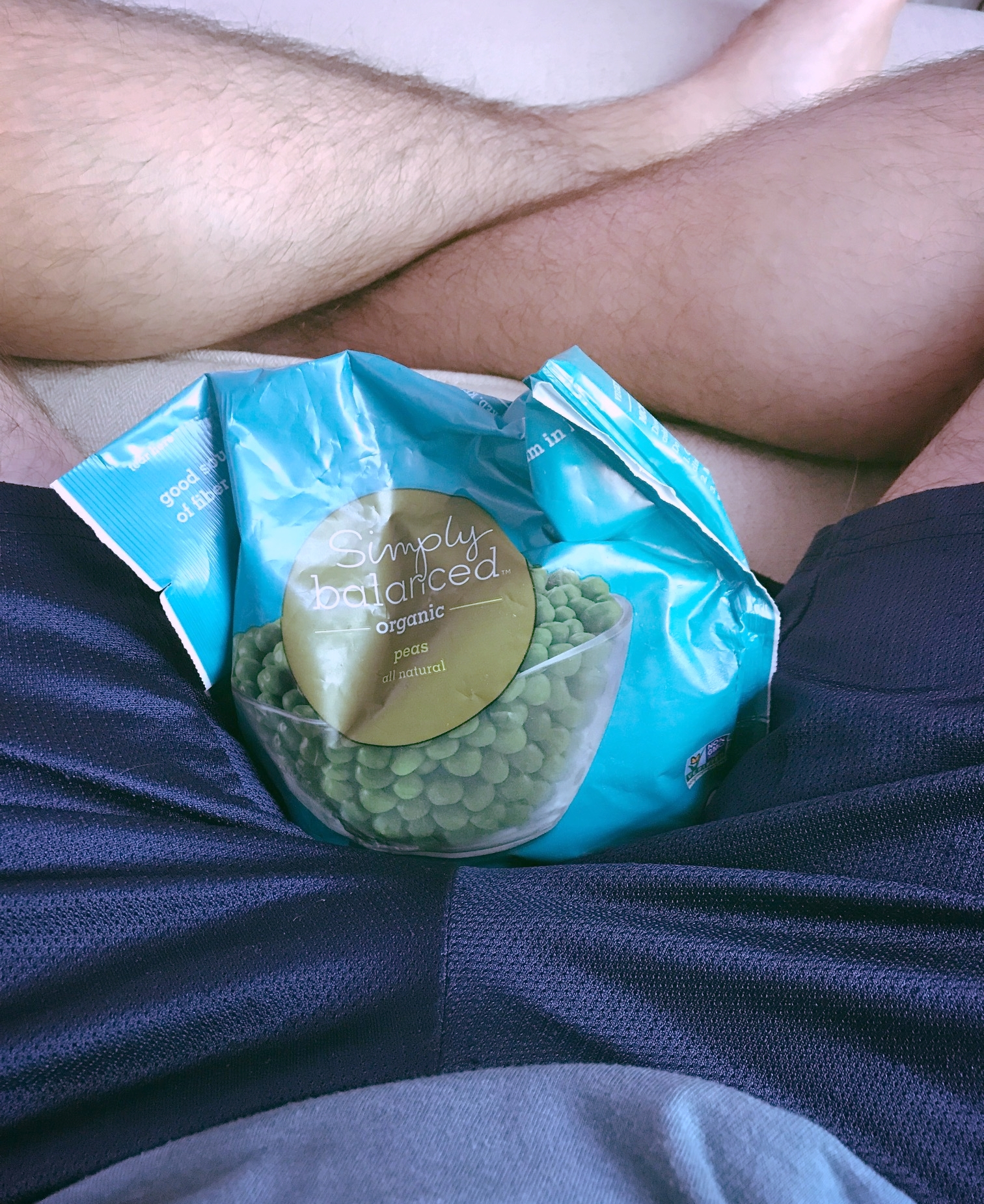 Someone needs to come up with an ice pack that feels as good as frozen peas.