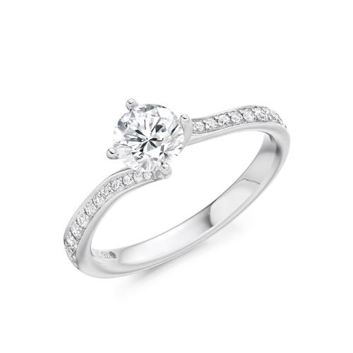 BRILLIANT CUT SOLITAIRE diamond TWIST