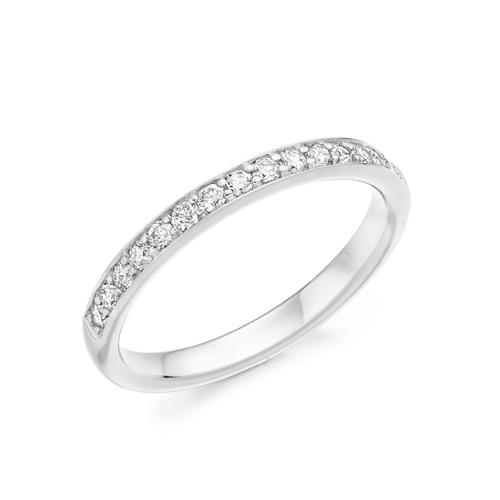 ROUND DIAMOND HALF ETERNITY RING