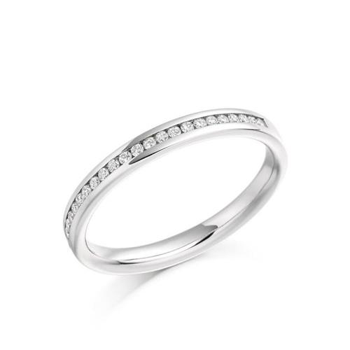 CHANNEL SET WEDDING/ ETERNITY RING
