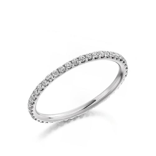 BRILLIANT CUT DIAMOND FULL ETERNITY RING