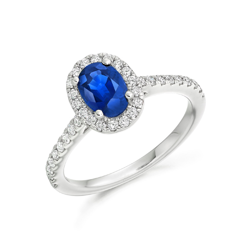 Blue Sapphire WITH SET SHOULDERS