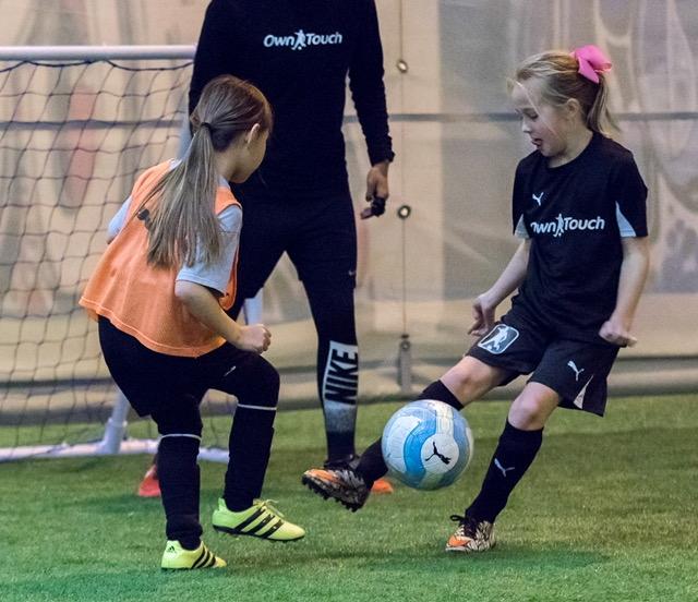 girls soccer training